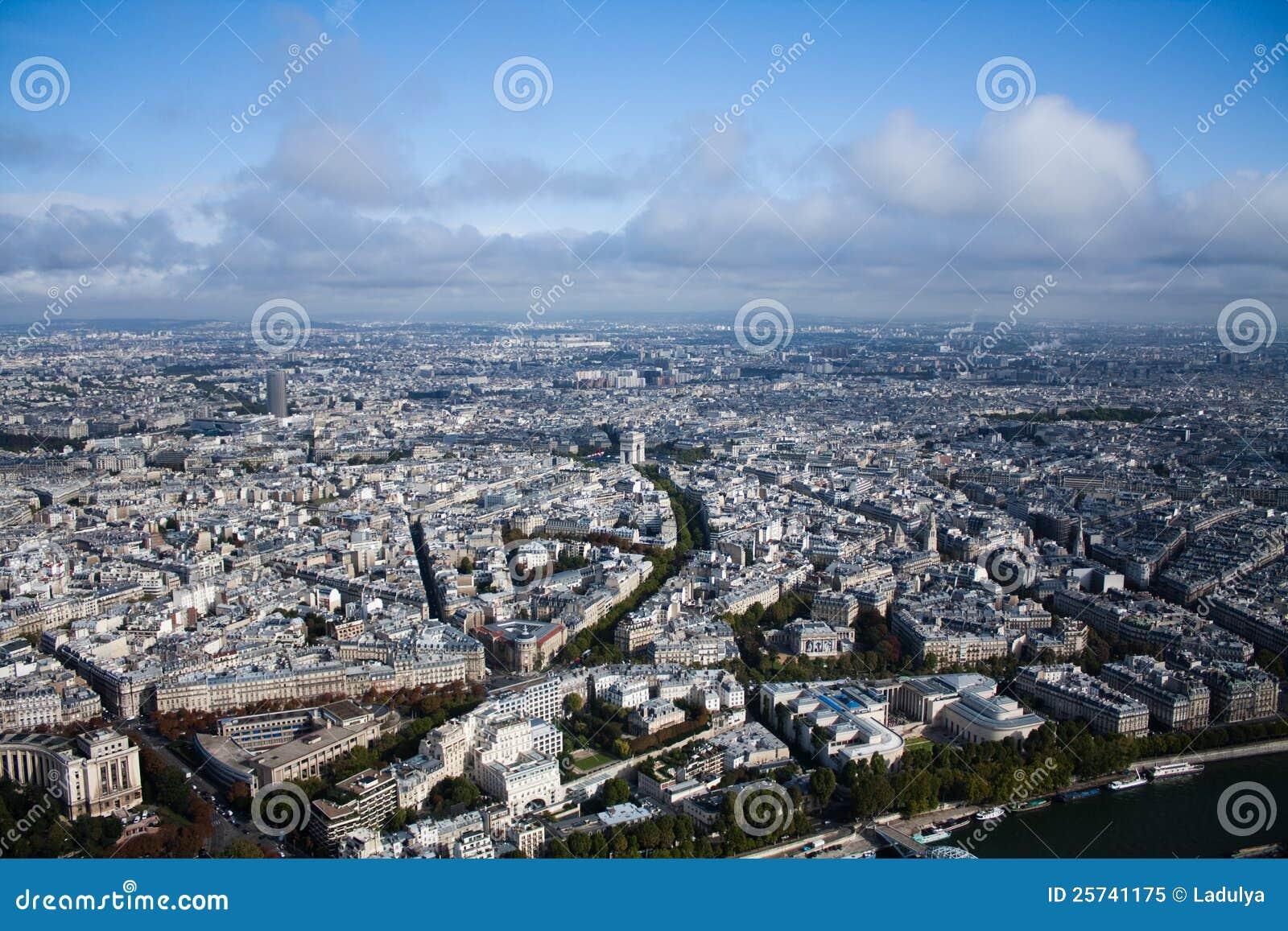 Paris view of the city
