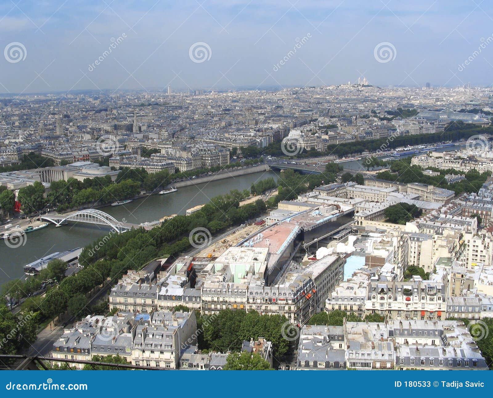 Paris - vue à premier Tour Eiffel