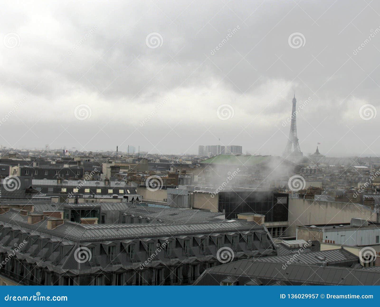 Paris wieżę eiffel France widok