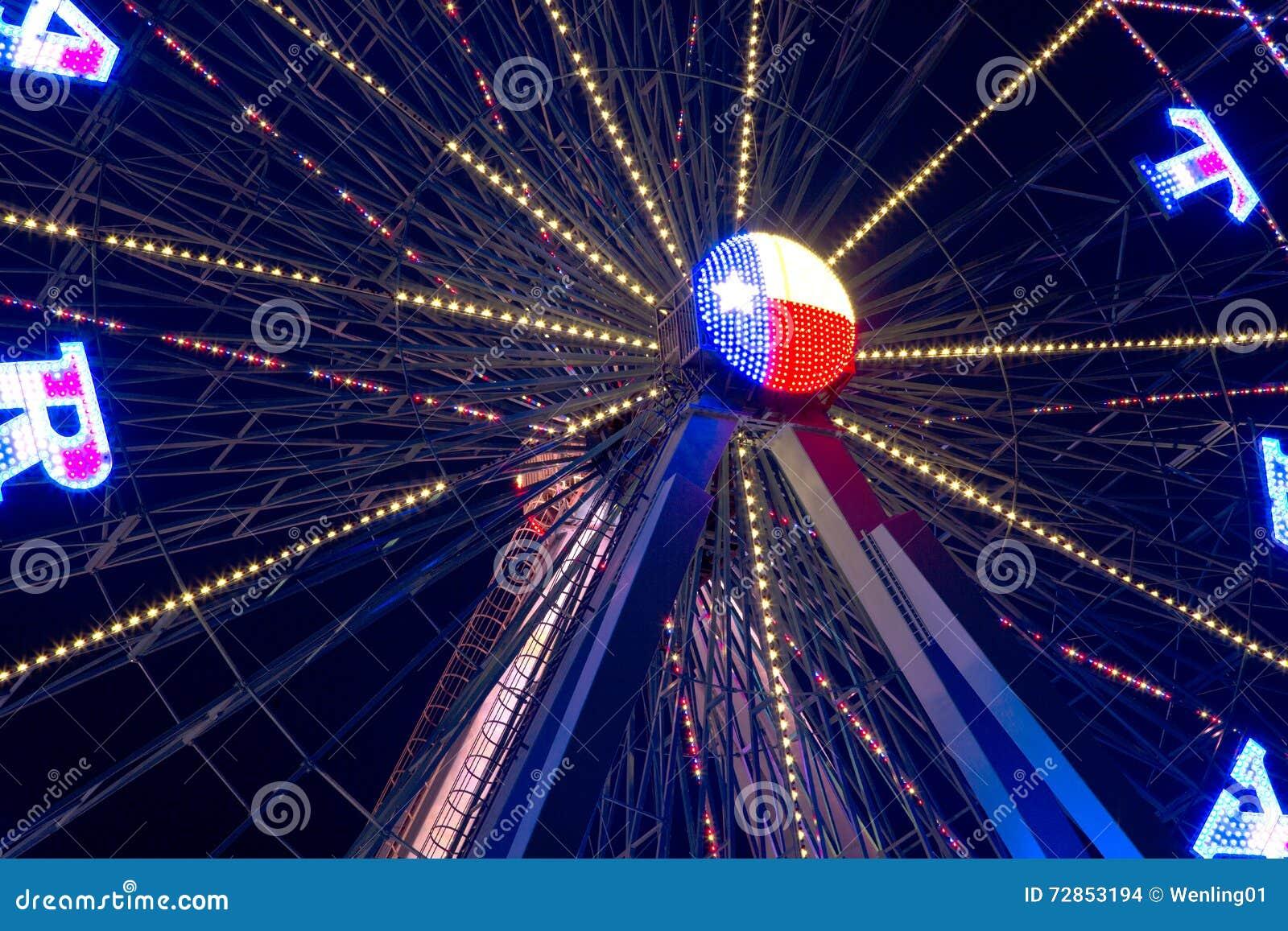 Pariserhjul på natten