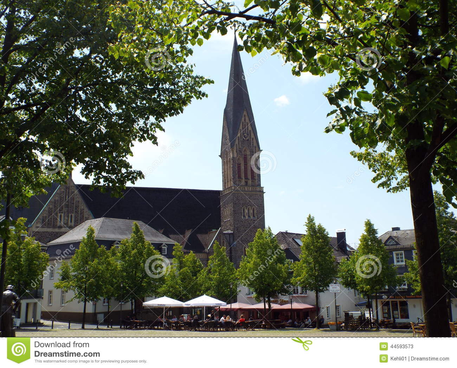 Olpe Germany  city photos gallery : Germany, Olpe, 2014 The Catholic parish church of St Martin, newly ...