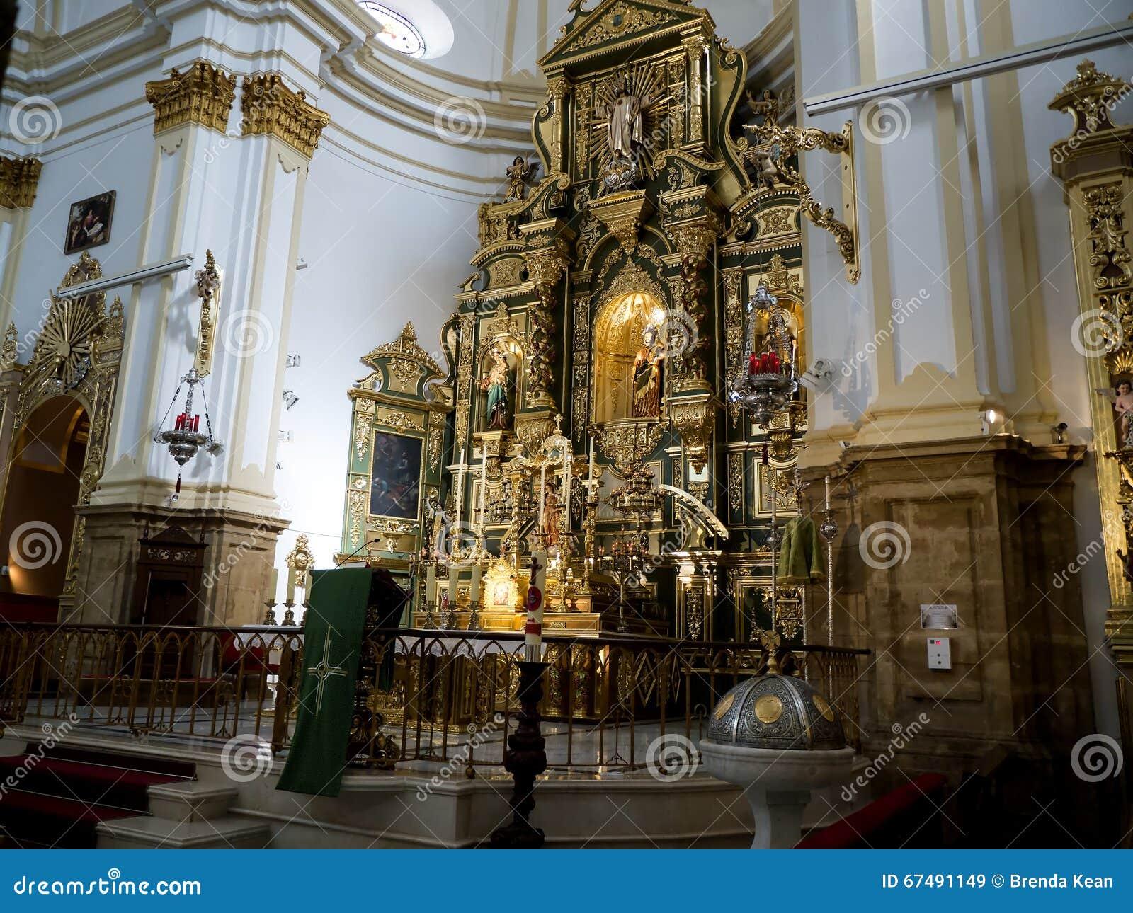 Parish Church in the Stylish Town of Marbella on the Costa del Sol Spain