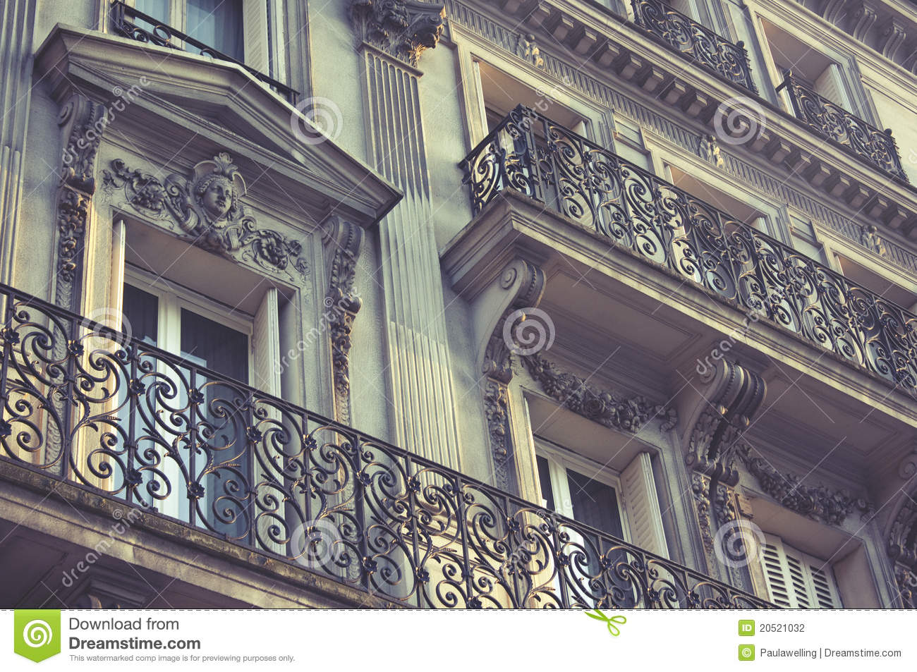 Parisian Architecture Stock Photography Image 20521032