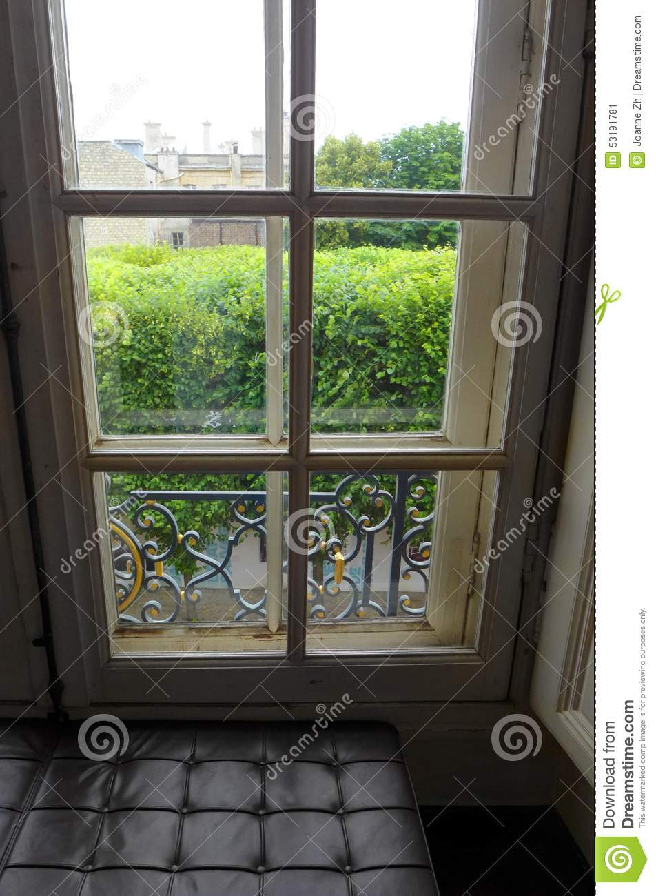 Parisian house window with view stock image image of for House plans with window views