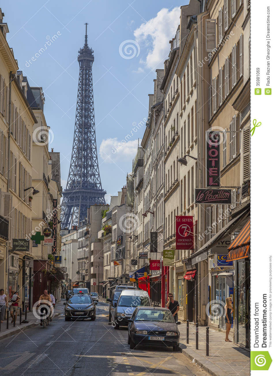 Parisian Street Editorial Stock Image Image Of Hotel