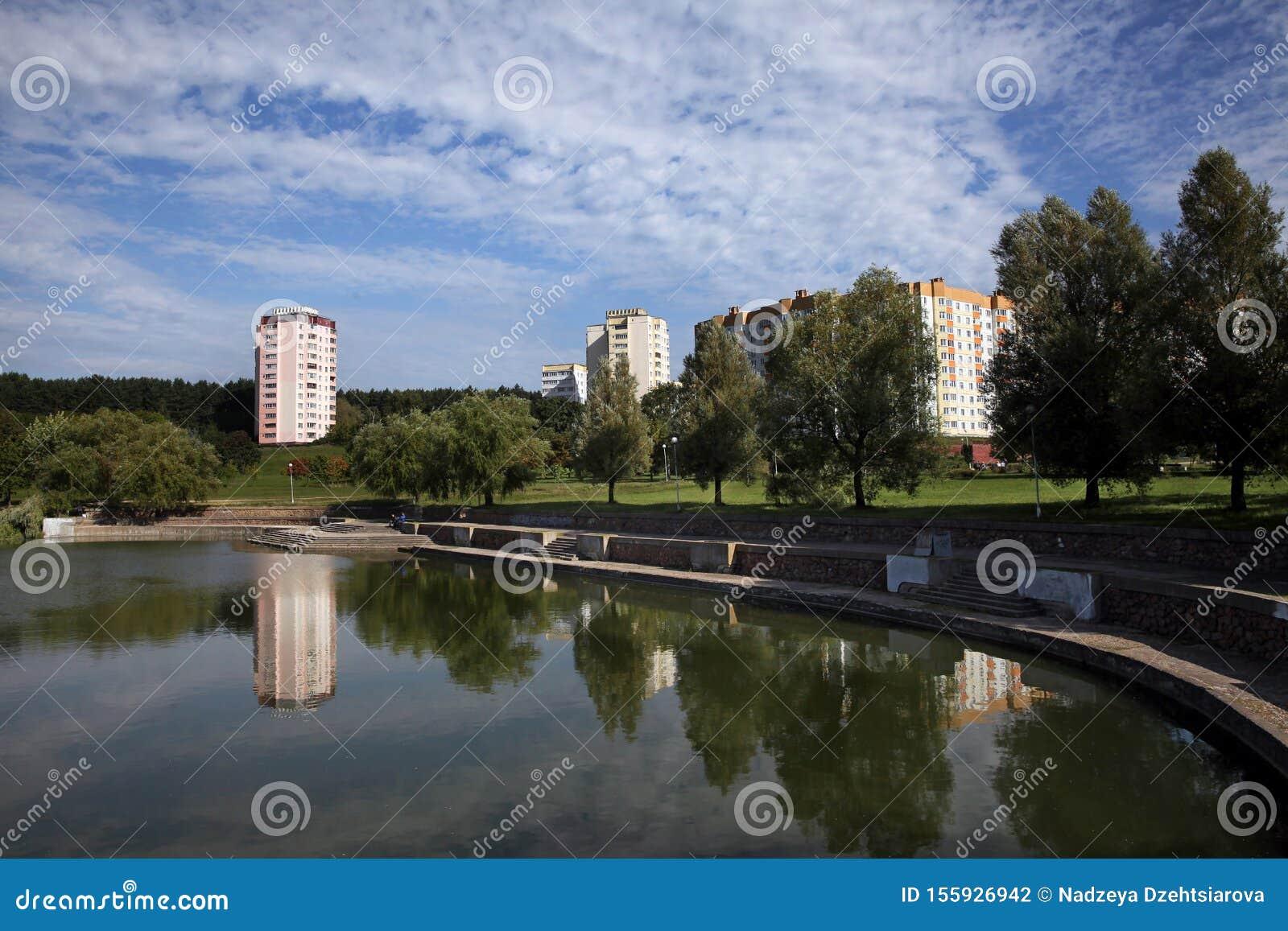 The park area on Miroshnichenko street