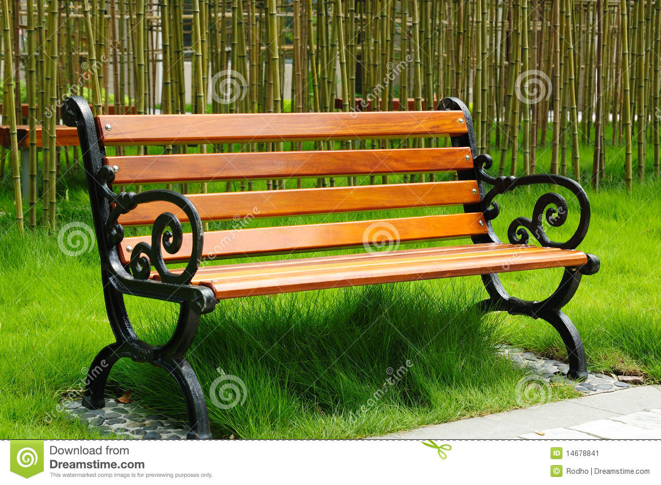 Park Bench Stock Image Image Of Lawn Object China 14678841