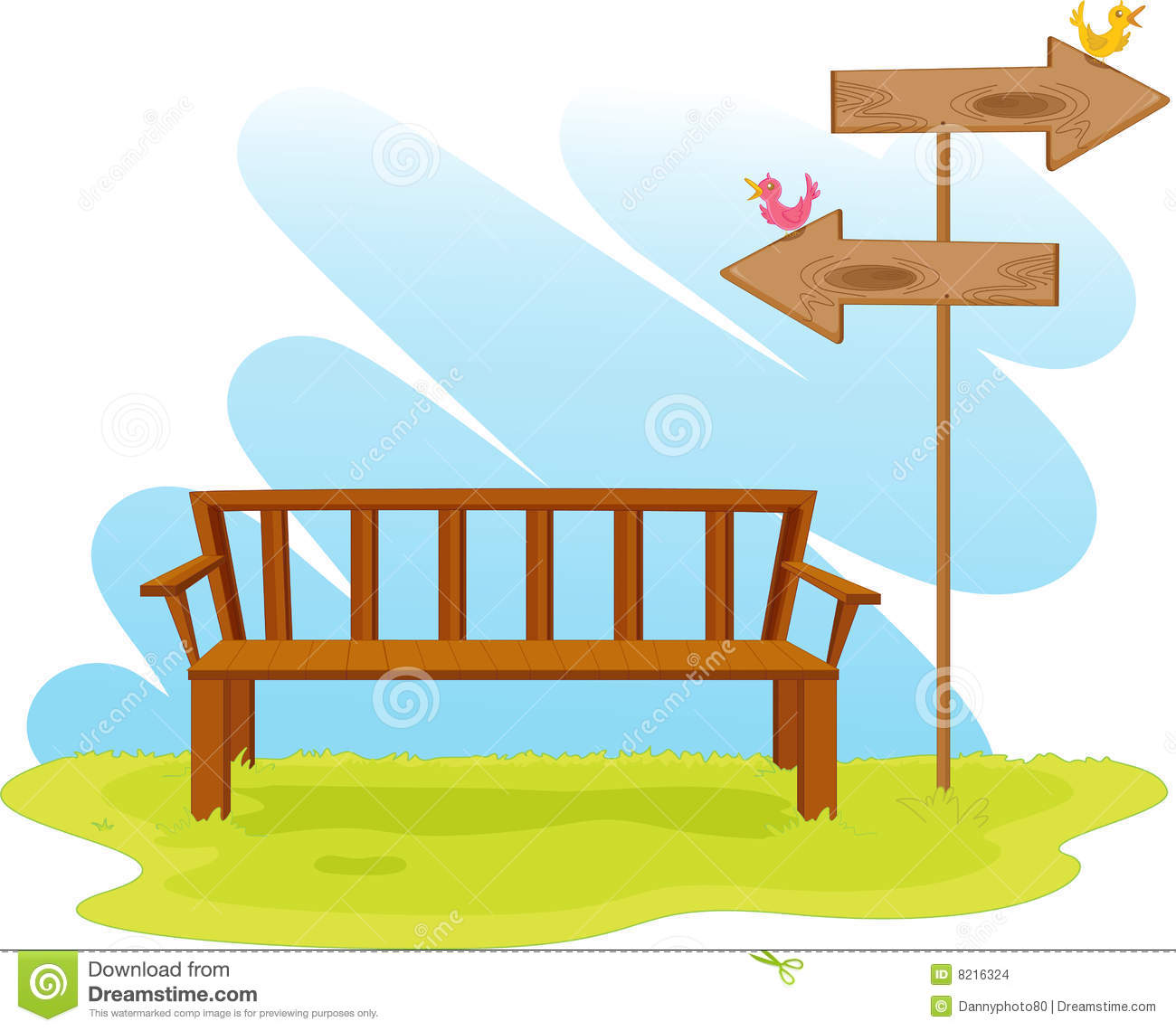 Park Bench Stock Illustration Illustration Of Colorful 8216324