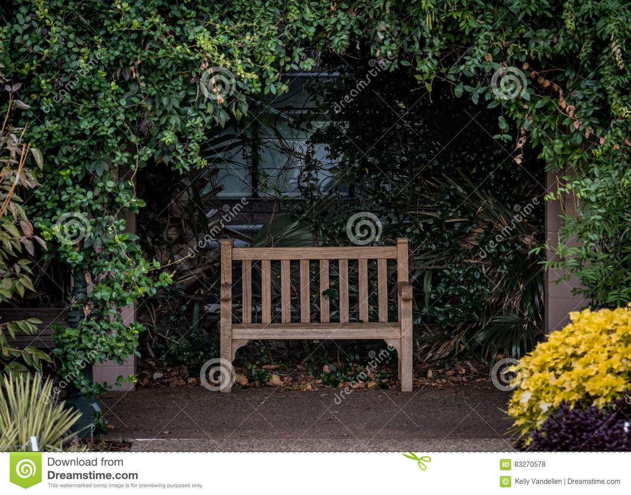 Super Park Bench In Alcove Stock Photo Image Of Quiet Rest Forskolin Free Trial Chair Design Images Forskolin Free Trialorg