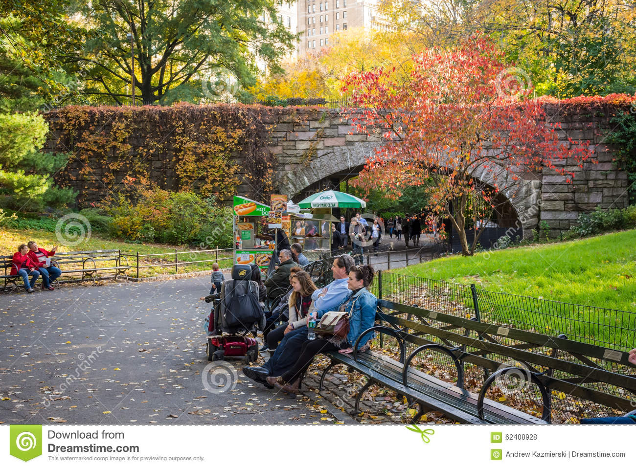 Park Bench Central Park Editorial Stock Photo Image Of Travel