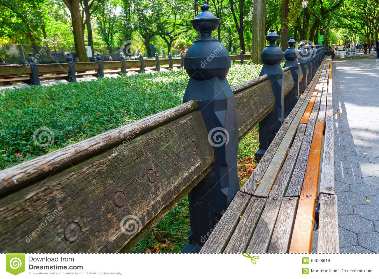 Park Bench In Central Park Nyc Stock Image Image Of Manhattan