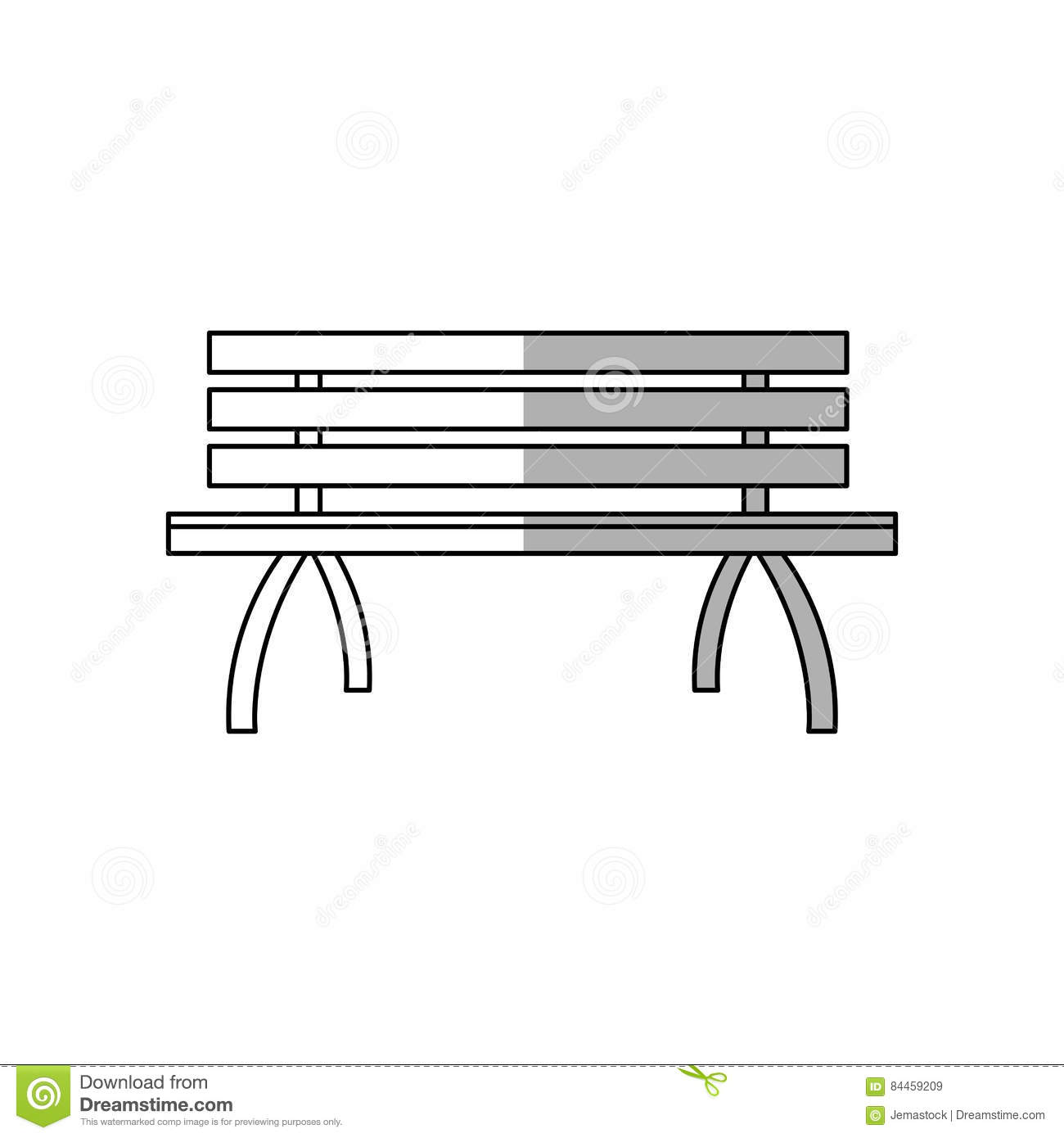 Stupendous Park Bench Icon Stock Vector Illustration Of City Cartoon Squirreltailoven Fun Painted Chair Ideas Images Squirreltailovenorg