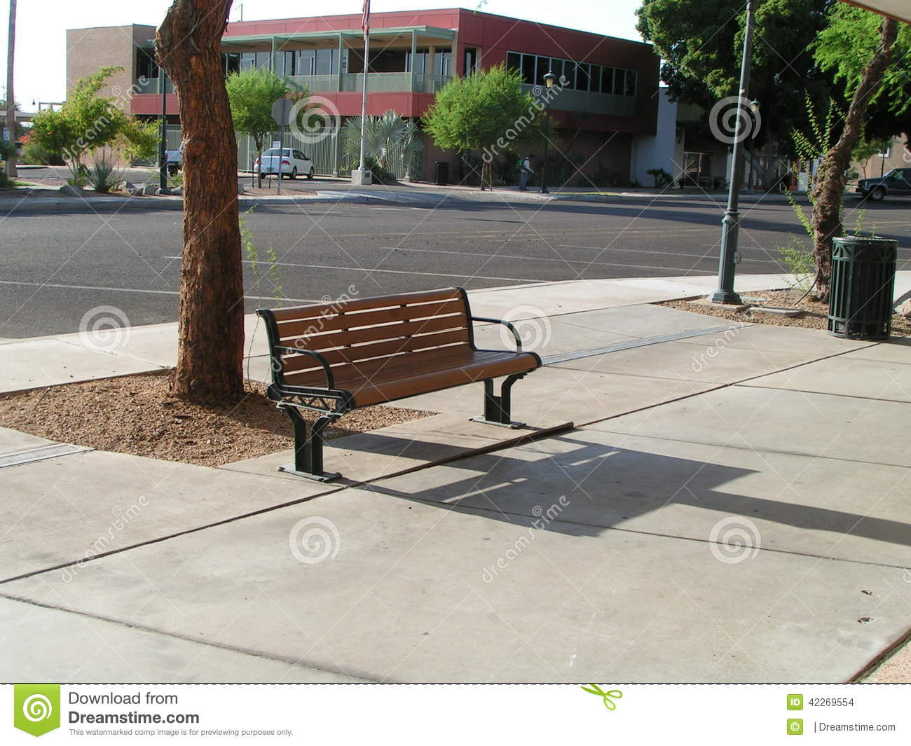 City Street Bench Stock Photo - Image: 42269554