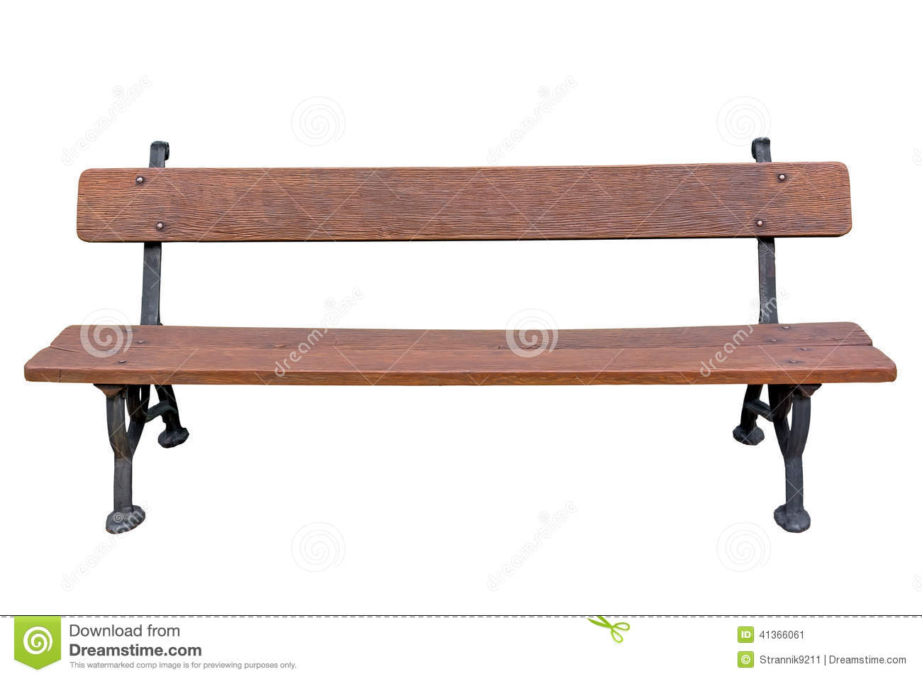 Park Bench Stock Image Image Of Seat Furniture Garden 41366061