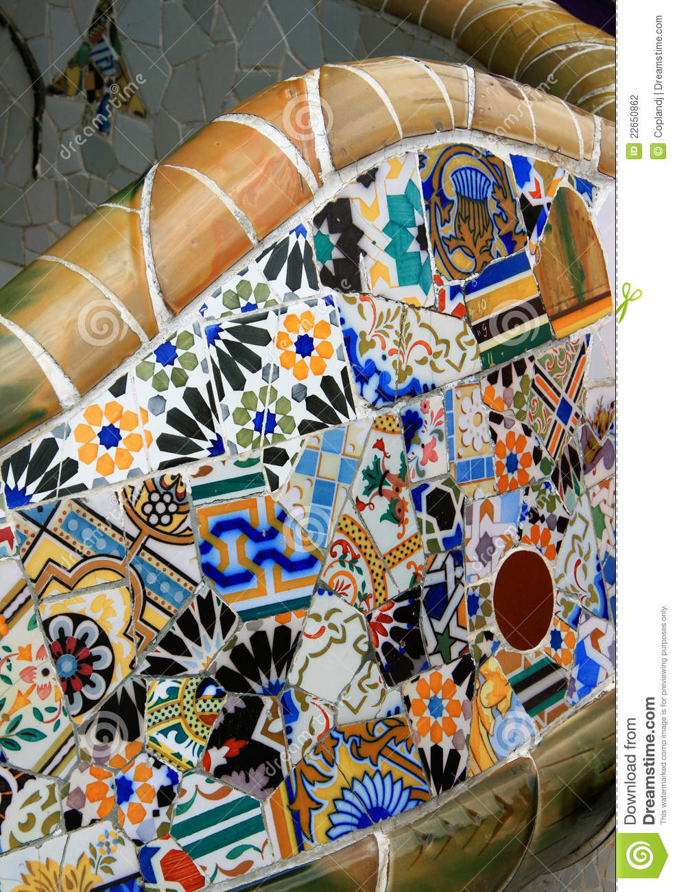 Park Bench, Parc Guell, Barcelona Stock Photography ...