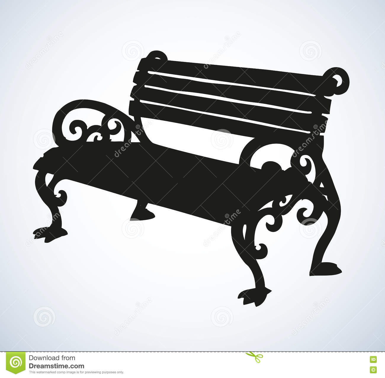 Park bench Vector drawing stock vector Image of artistic