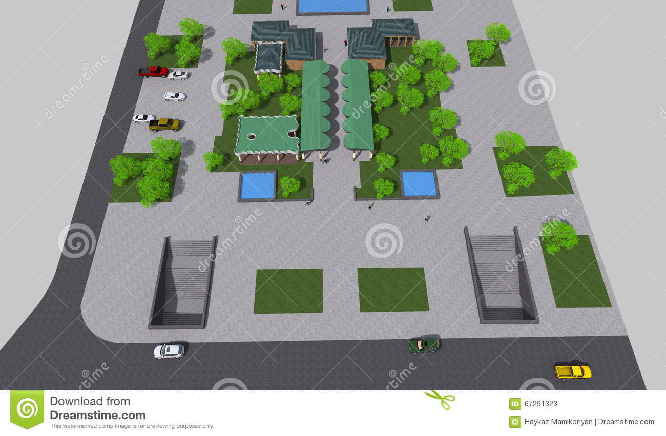 Park 3D mini stock illustration  Illustration of modelnprogram