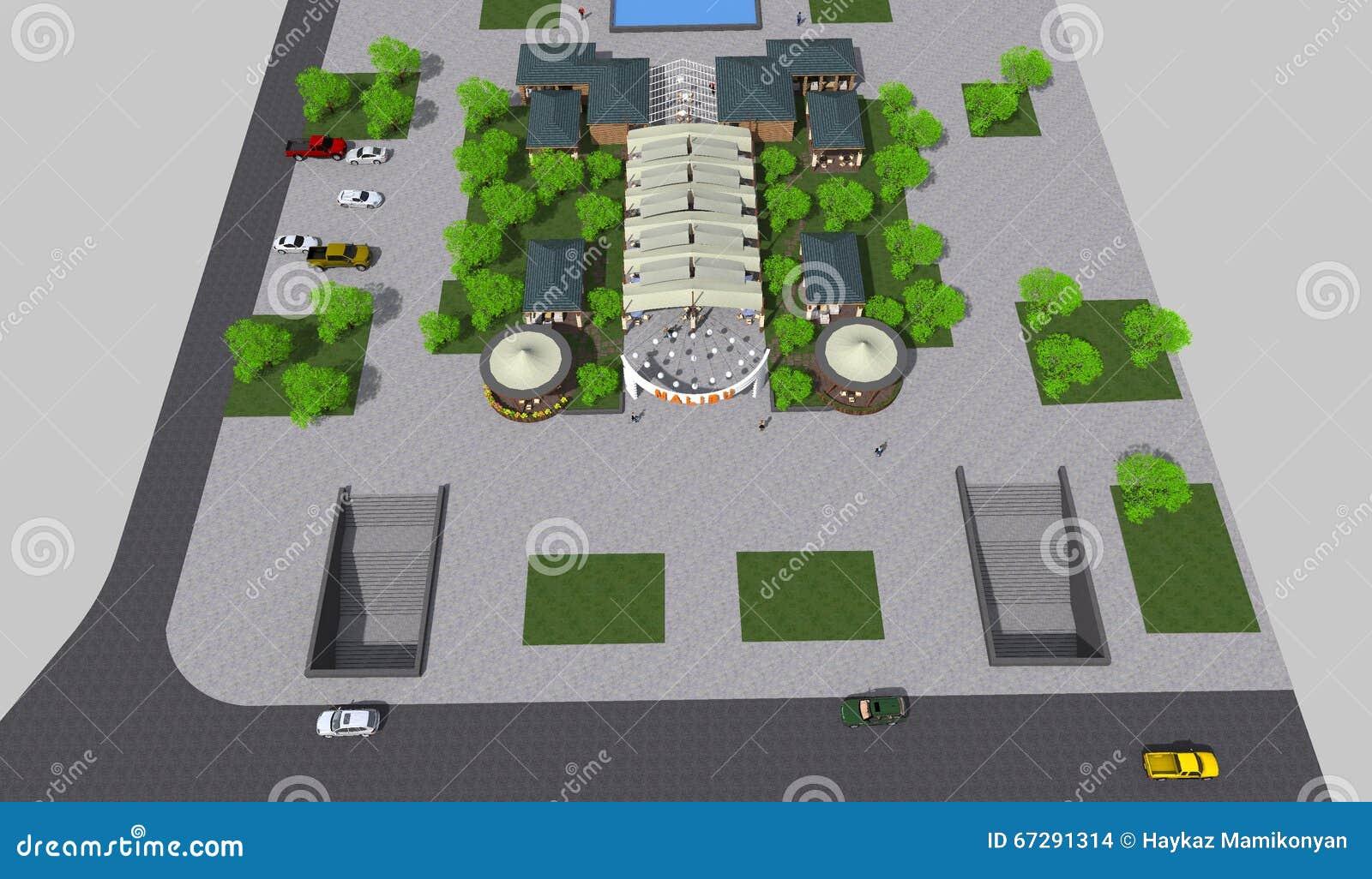 Park 3D stock illustration  Illustration of nprogram - 67291314
