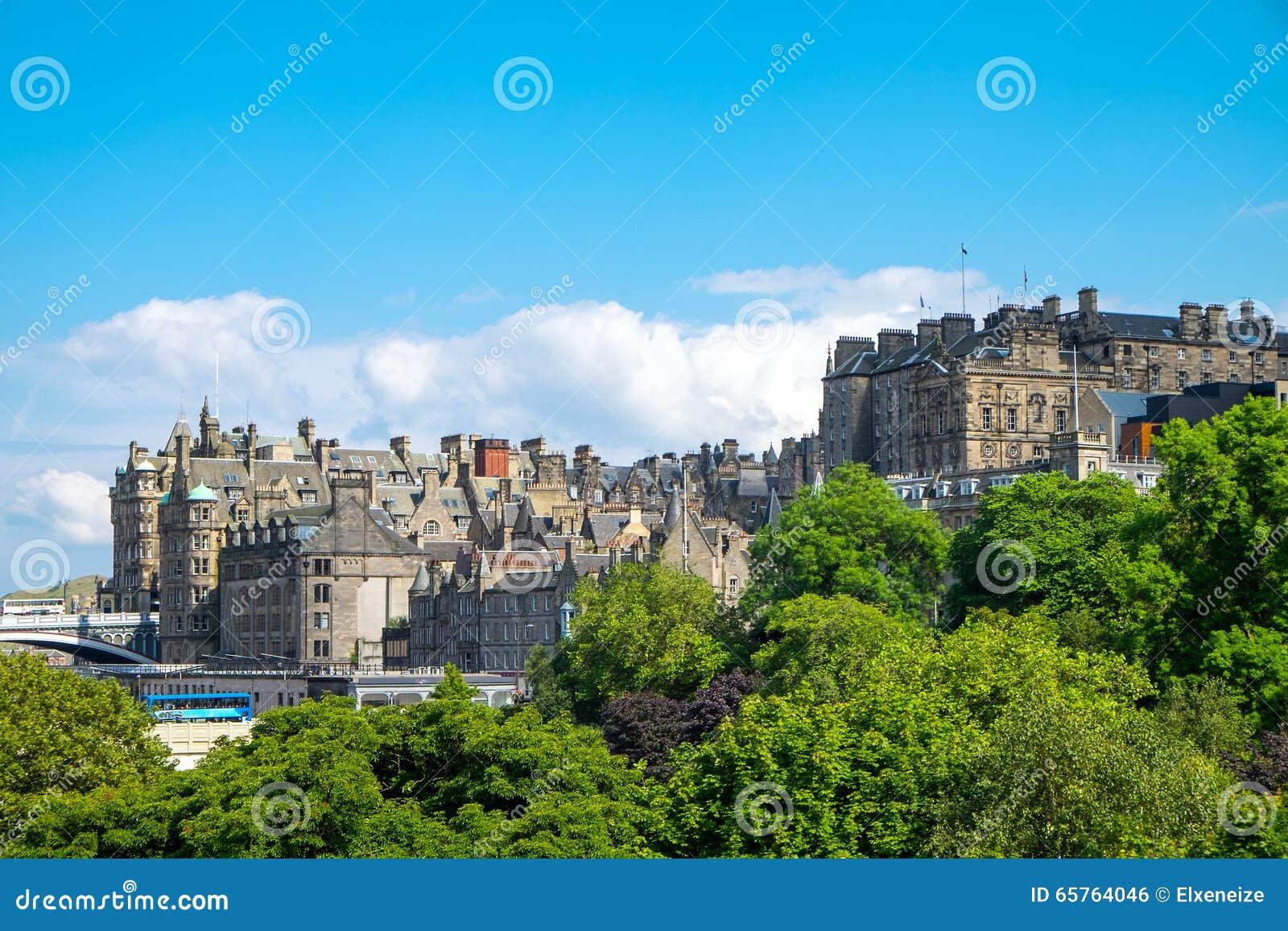 Park en gebouwen in Edinburgh
