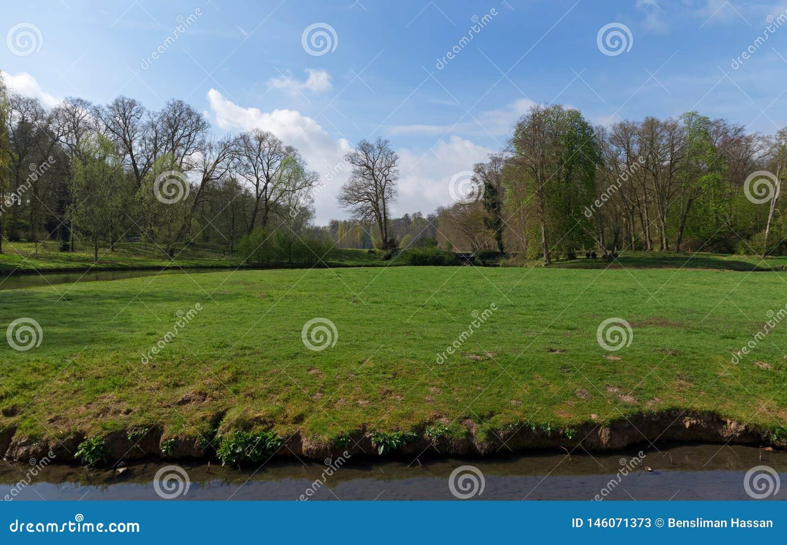 Park Of Ermenonville Village In Picardy Region Stock Image Image Of Tourism Landscape 146071373