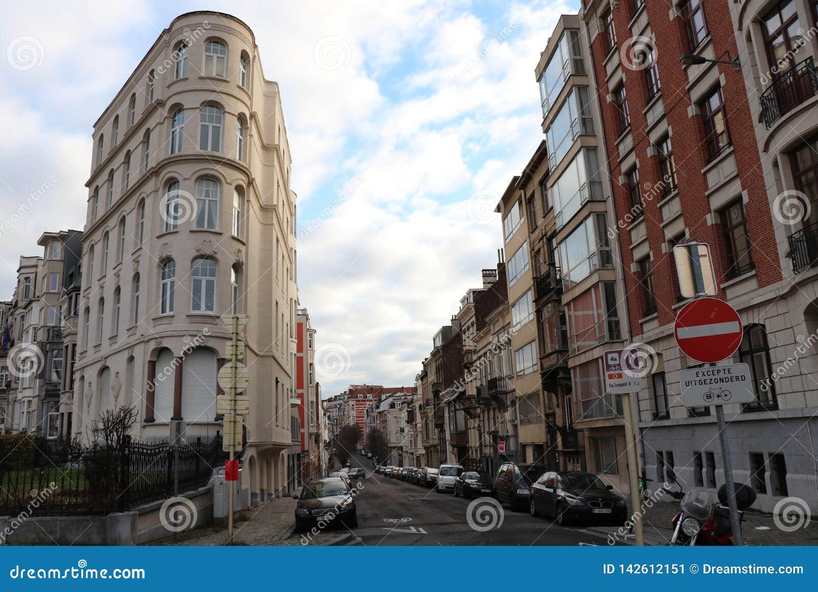 Streetscape, Brussels, Belgium