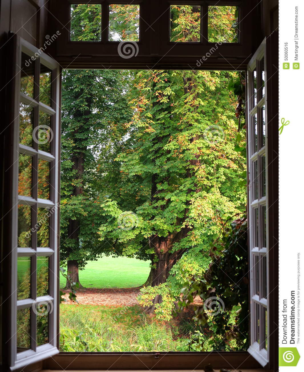 Open window of mansion airing stock photo image of for Par la fenetre ouverte comptine