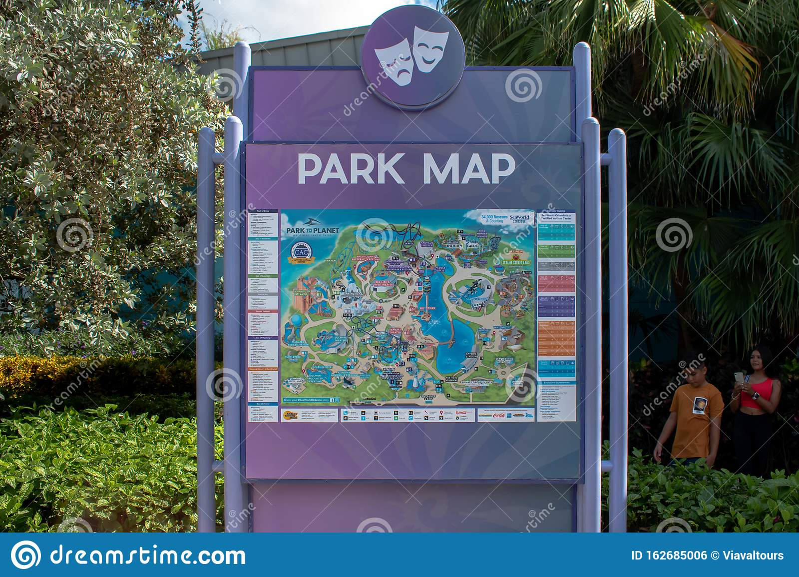 map of i drive orlando Park Map At Seaworld In International Drive Editorial Photo map of i drive orlando