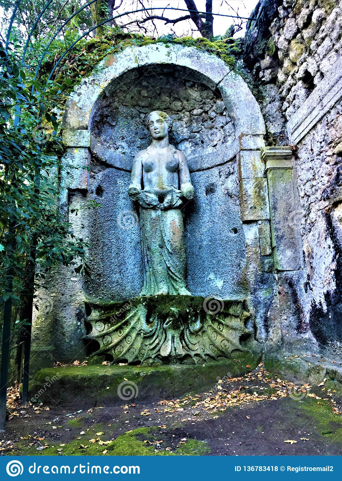 Park of the Monsters, Sacred Grove, Garden of Bomarzo. Aphrodite and beauty