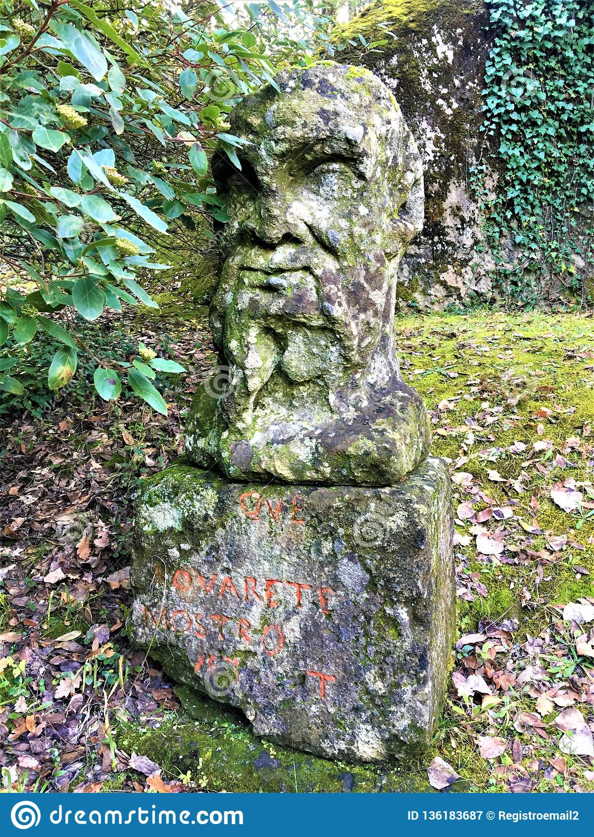 Park of the Monsters, Sacred Grove, Garden of Bomarzo. Pier Francesco Orsini and his statues