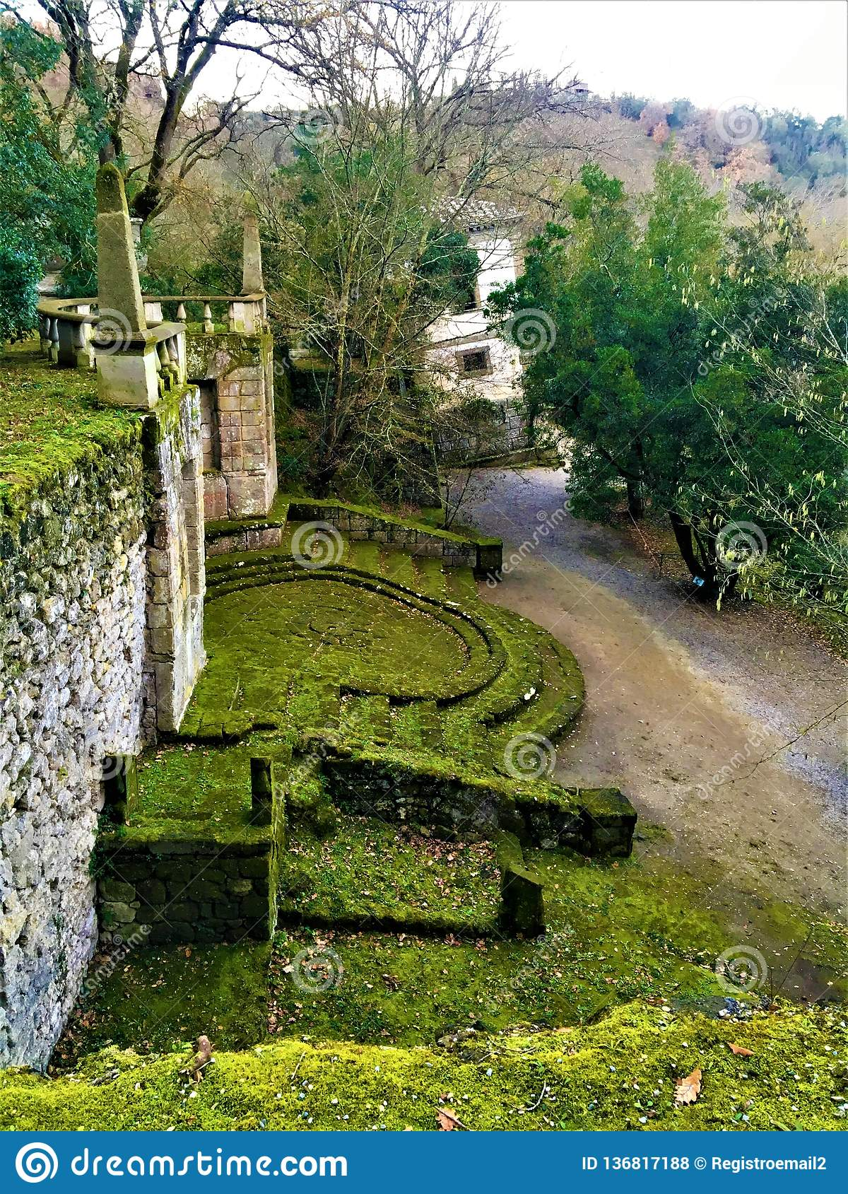 Park of the Monsters, Sacred Grove, Garden of Bomarzo. Surreal world and alchemy