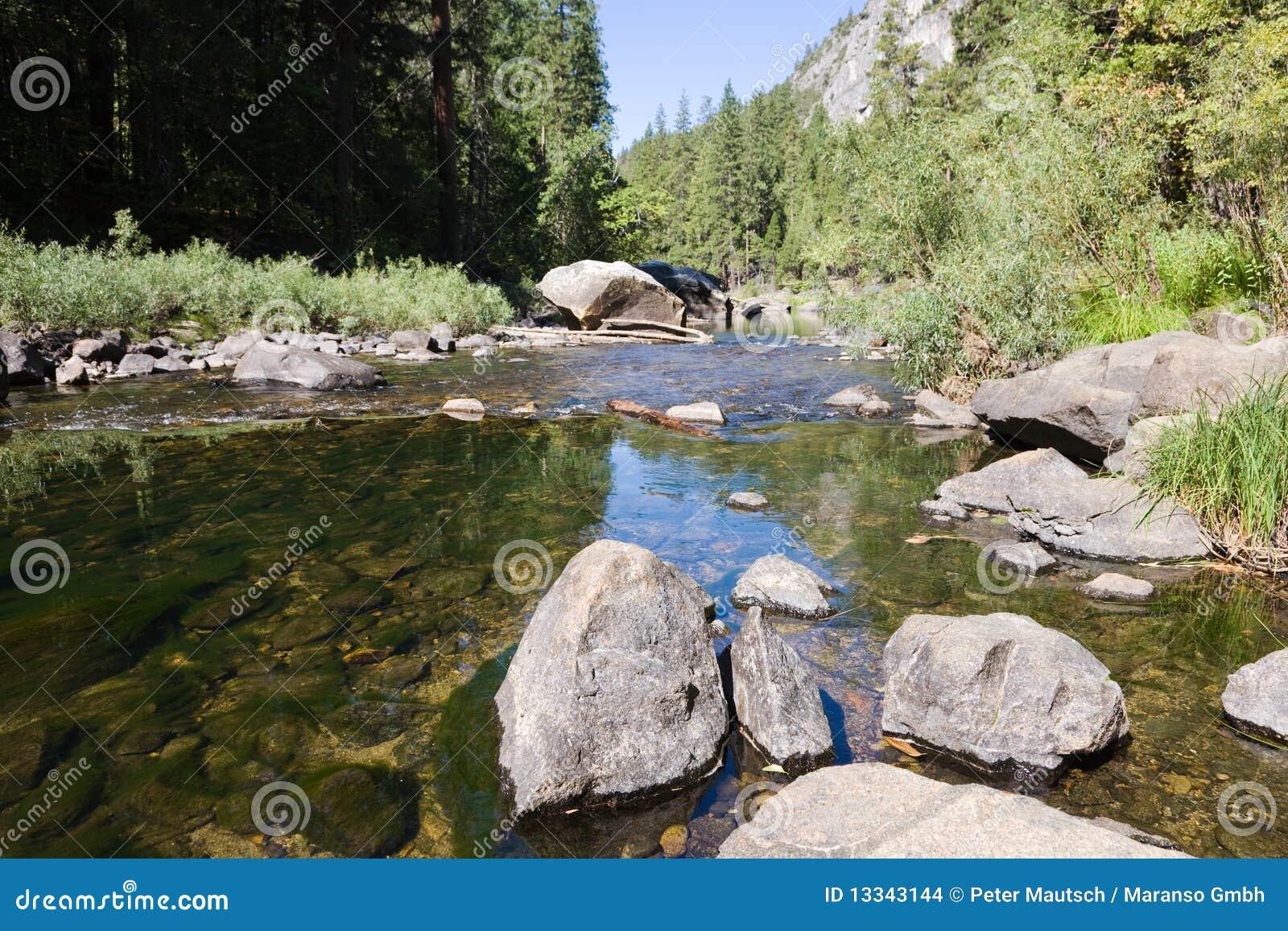 Park narodowy rzeka Yosemite