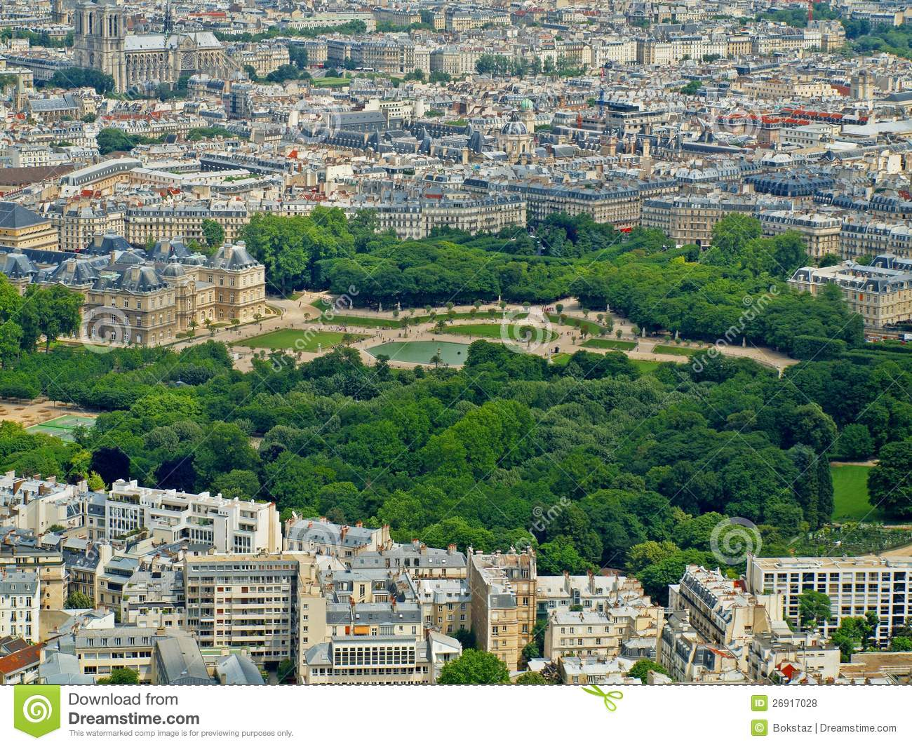 Park in paris jardin du luxembourg palace stock photo for Jardin luxemburgo