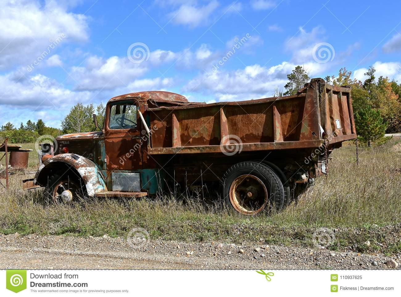 old mack gravel truck editorial image image of produced 110937625