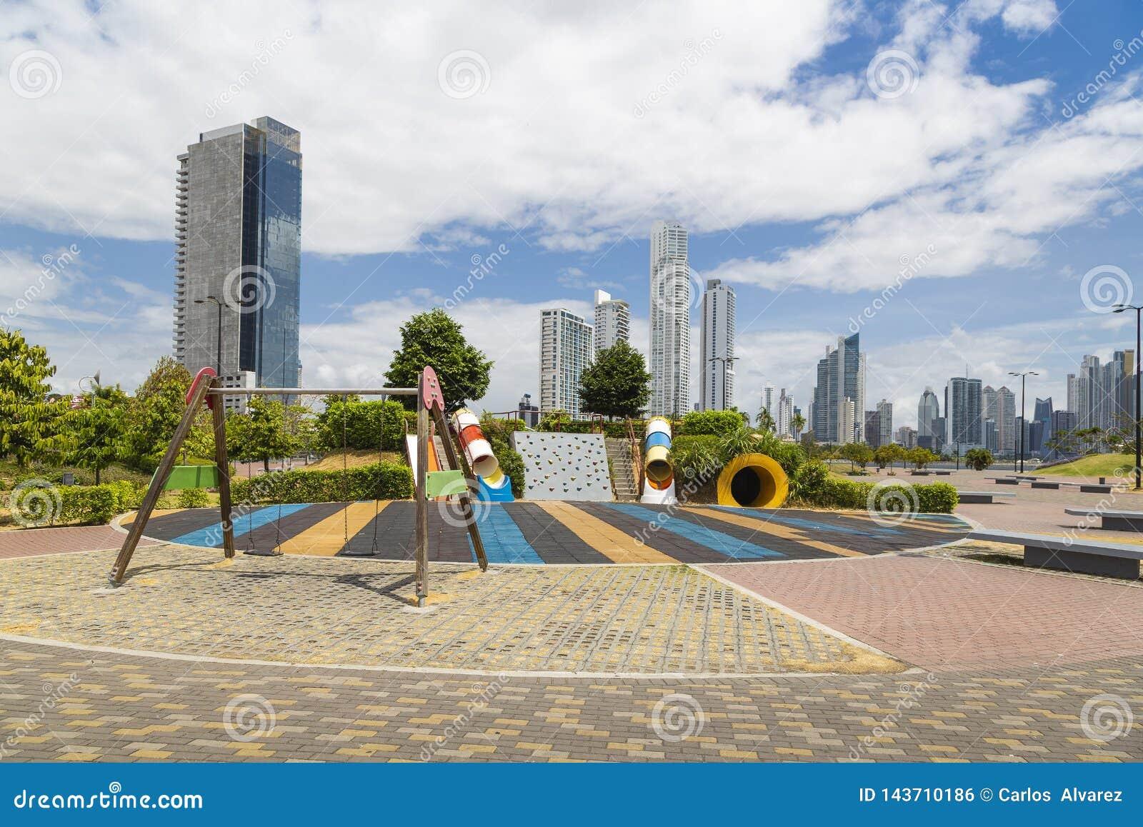 Park w Panama miasta nowej strefie