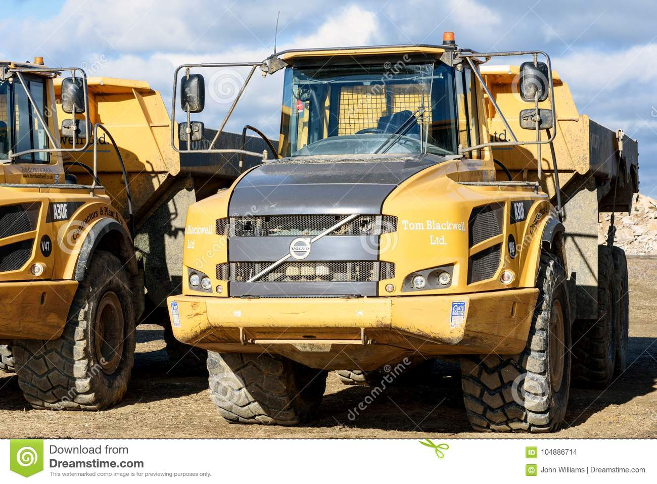 Volvo A30F Digger Earthmoving Machines Editorial Stock Image