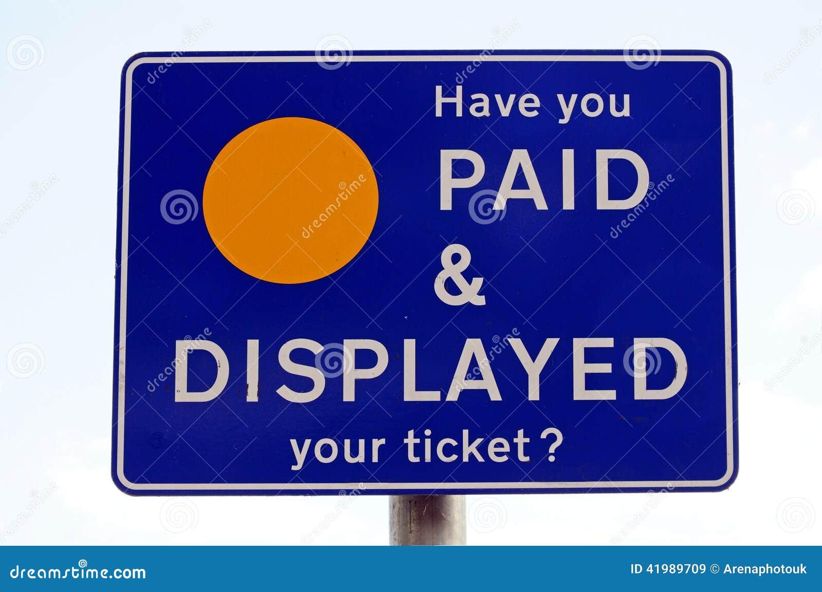 Parkendes Anzeigenzeichen