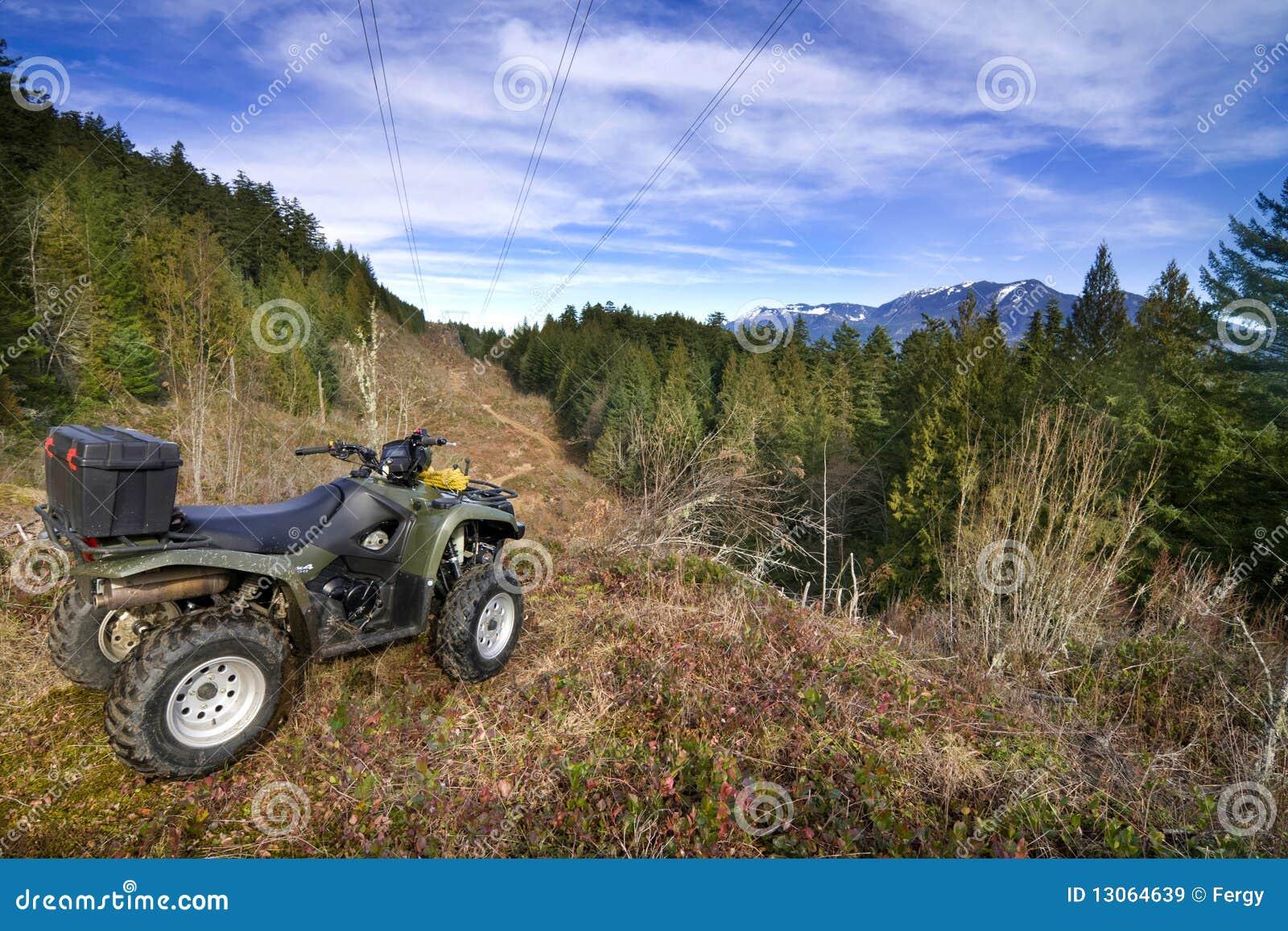 Parkerat förbise för atvskog