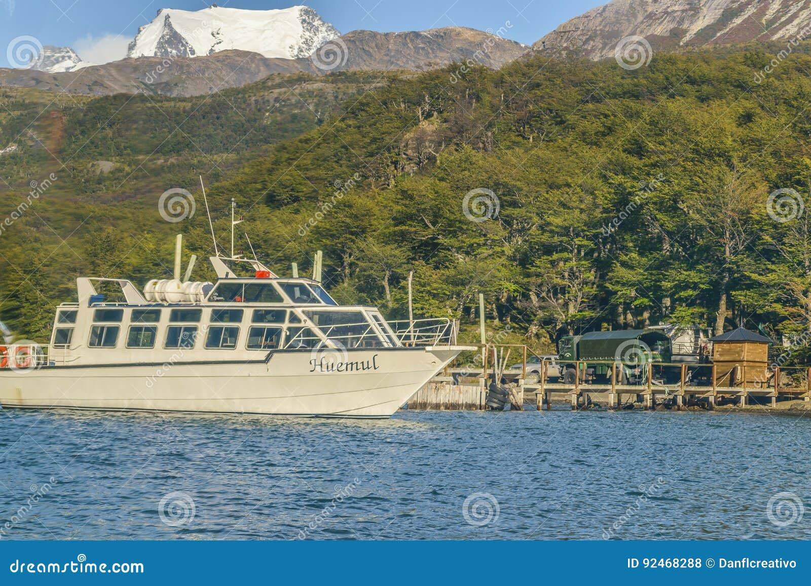Parkerat fartyg, Lago del Desierto, Patagonia - Argentina