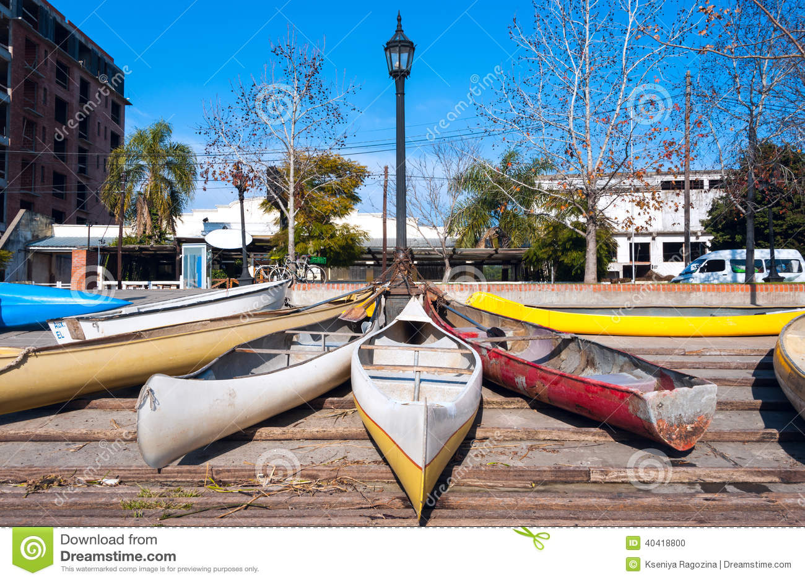 Parkeren van persoonlijke voertuigen in Gr Tigre, Argentinië