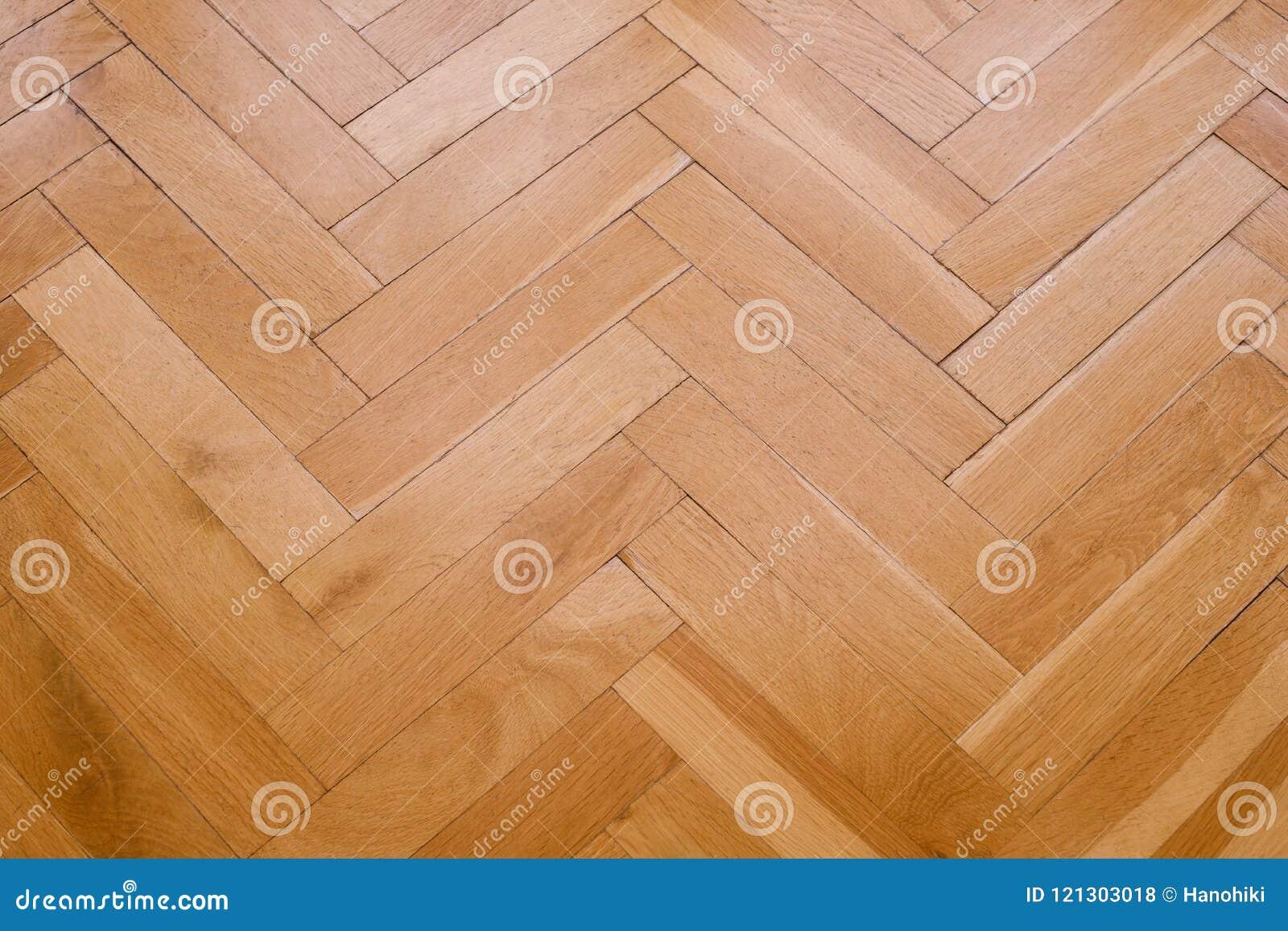 Parketvloer, houten vloerclose-up - visgraat,