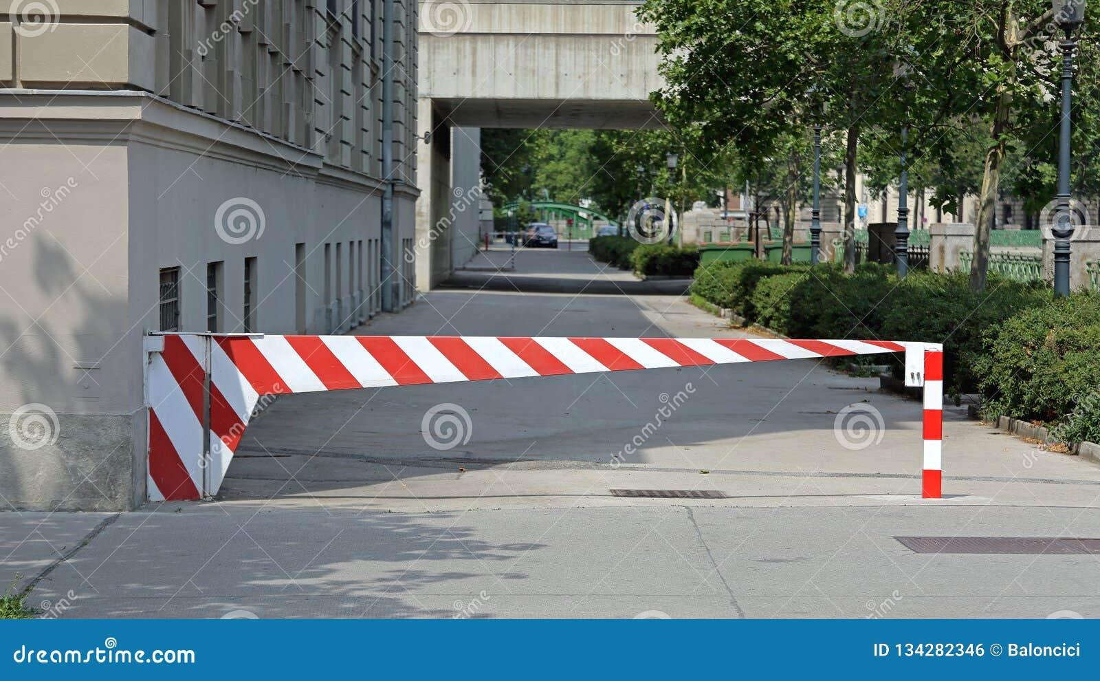 Parking Barrier stock photo  Image of street, diagonal