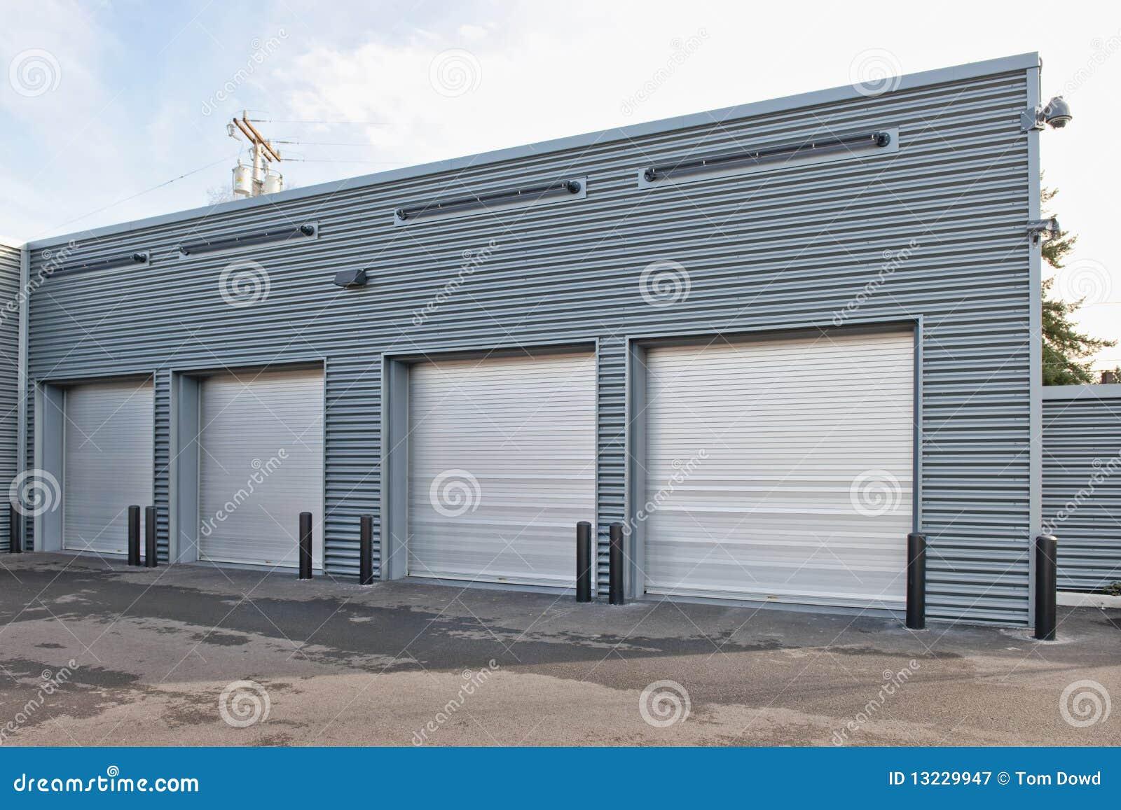 Parking garage with doors
