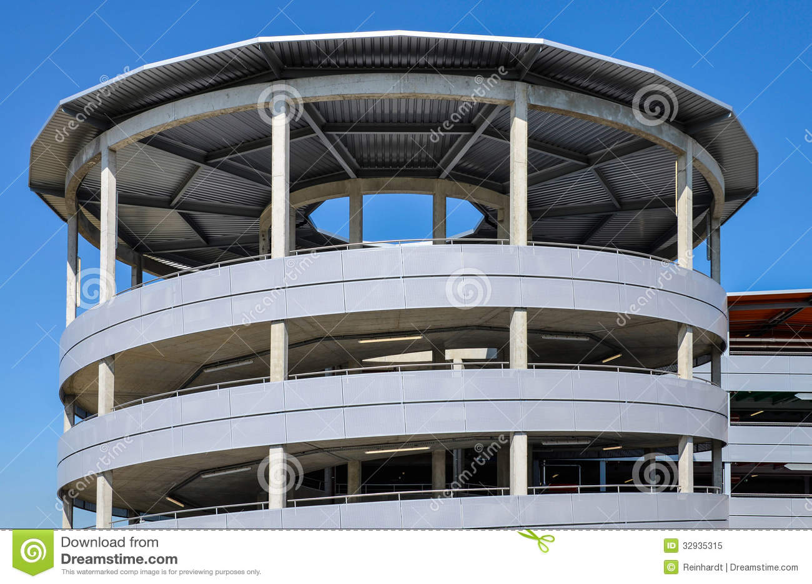 Parking Garage Exit Ramp Royalty Free Stock Photo Image 32935315
