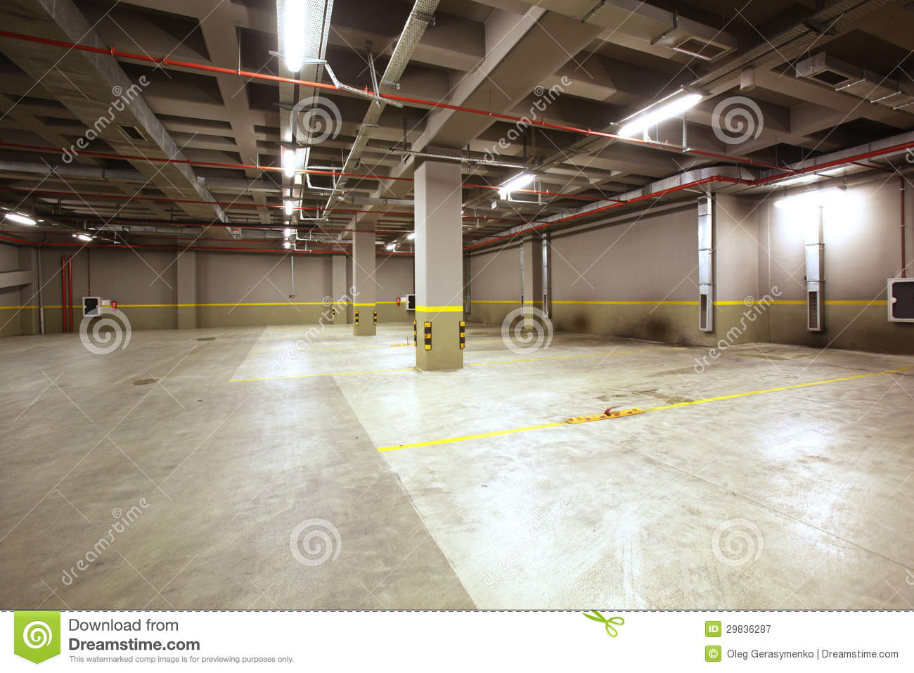Parking Garage Interior Stock Image Image Of Column