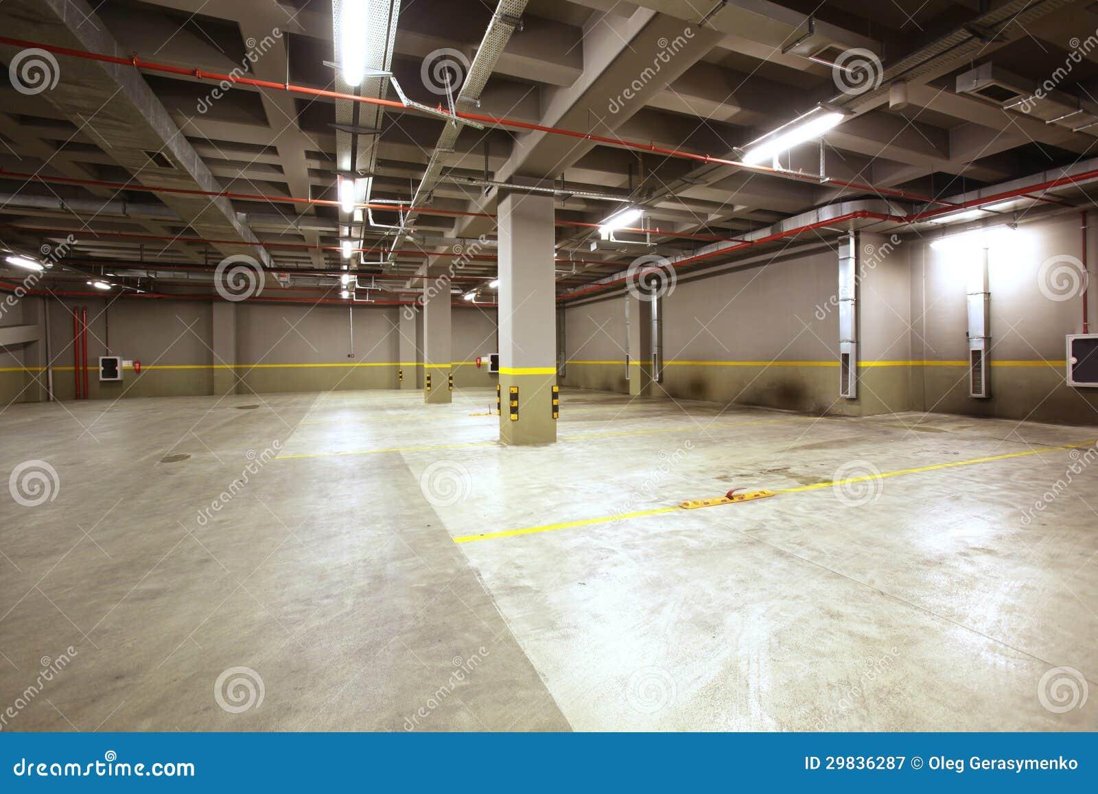Parking Garage Interior Stock Image Image Of Column
