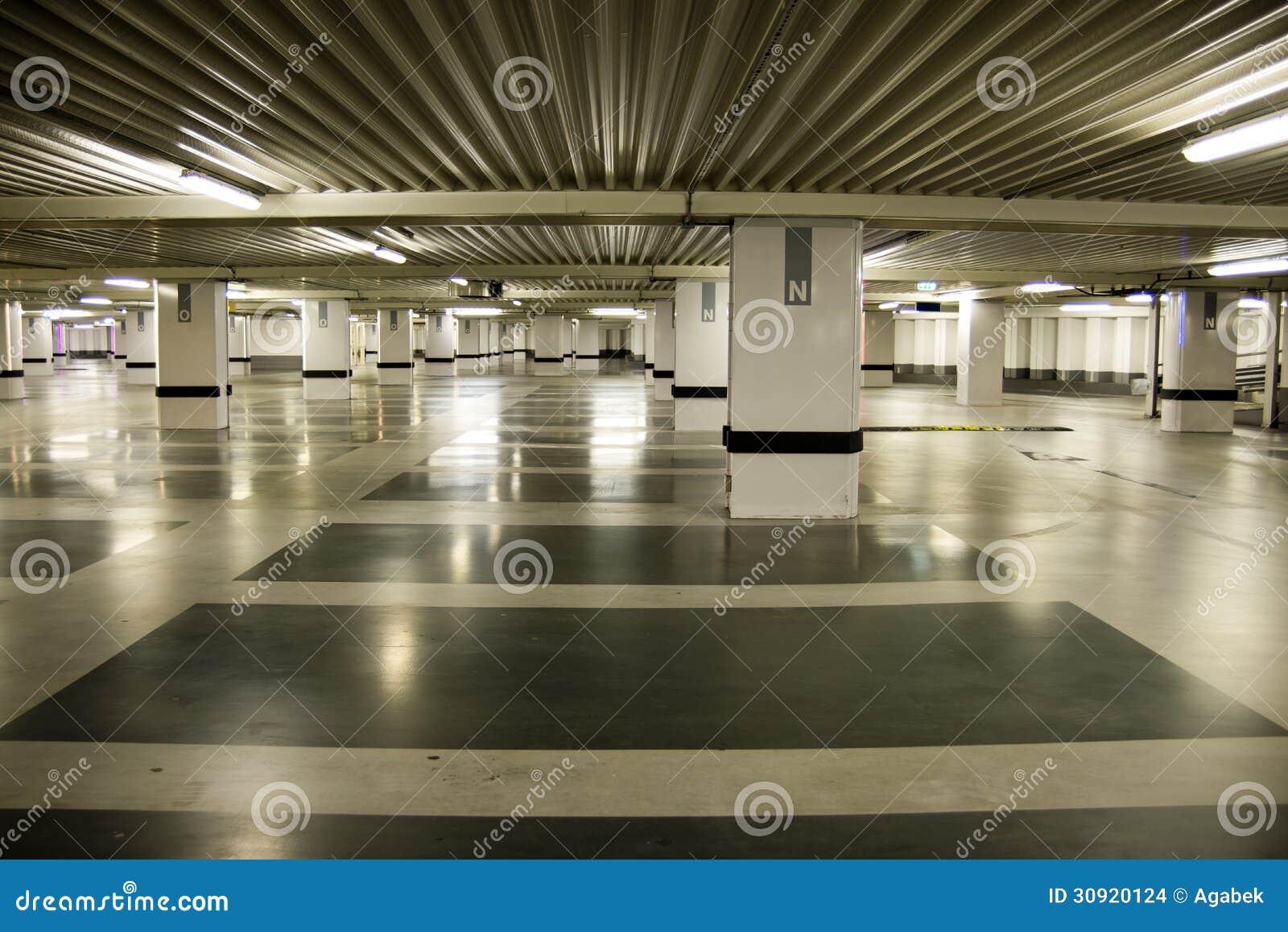 Concrete Underground Garage : Parking garage stock images image