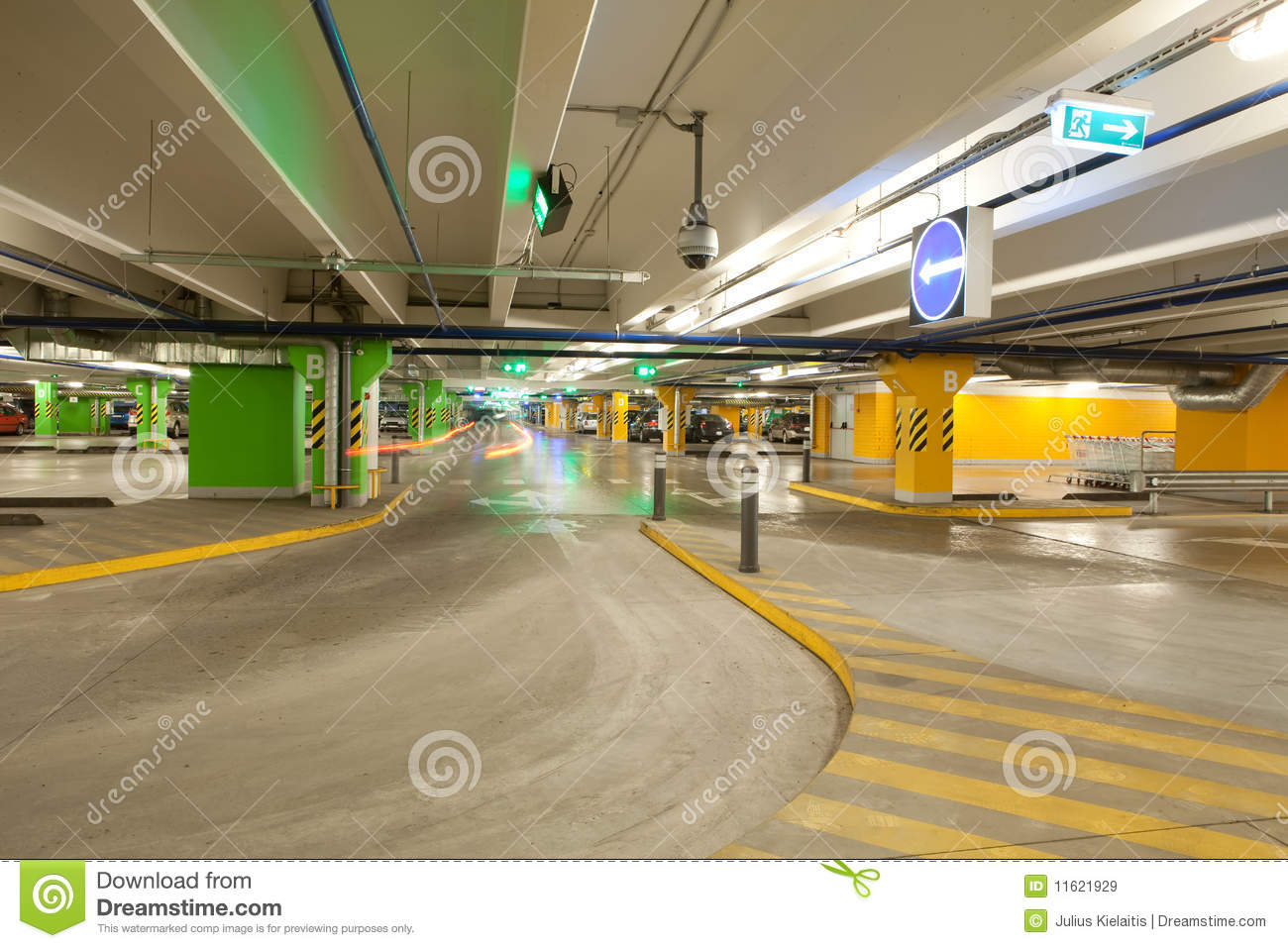 Parking Interior Underground Garage