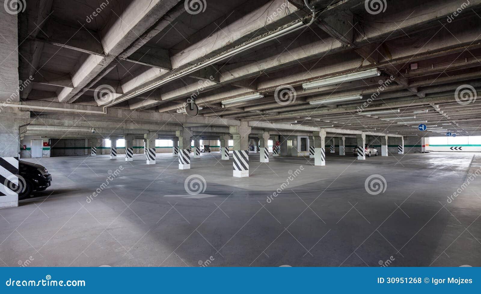 Parking Interior Underground Garage Stock Photo Image