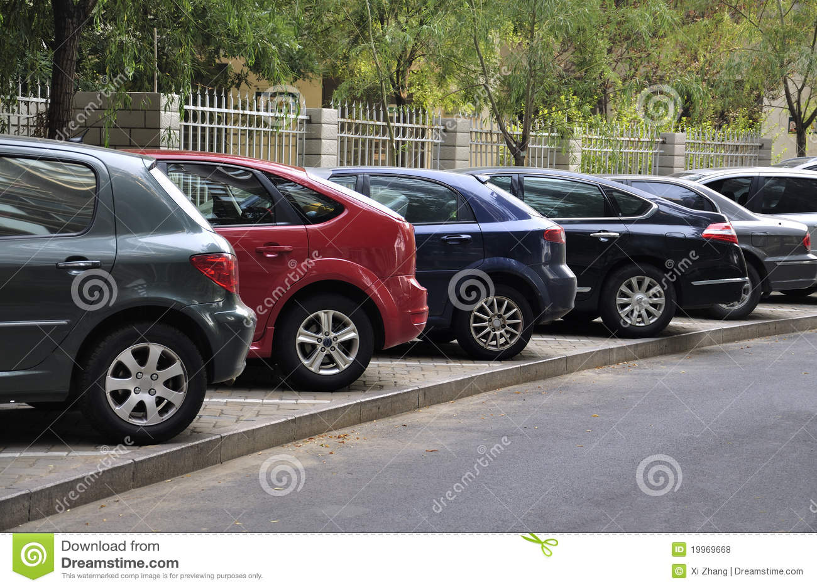 Parking lot cars