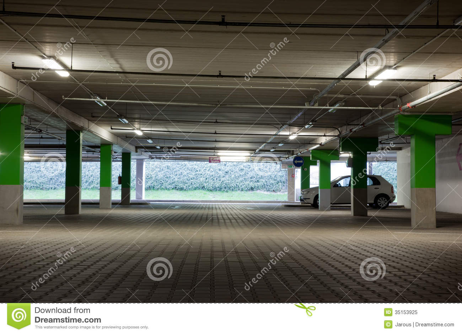 Parking Lot Stock Image Image Of Building Autocar Drive